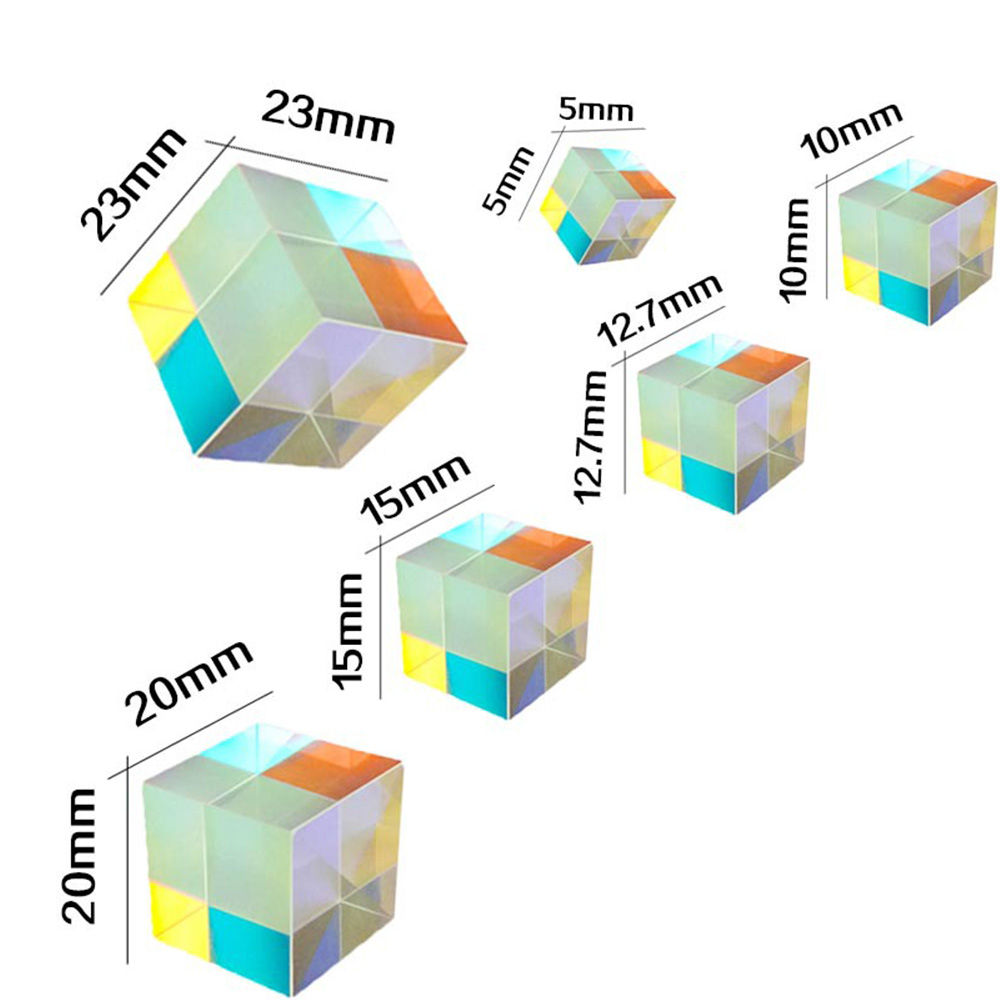 Science Prism Laser Beam Combine Cube Prism Laser Diode FOR Optical Instruments Mirror Teaching Tools Module Toy Decoration fun