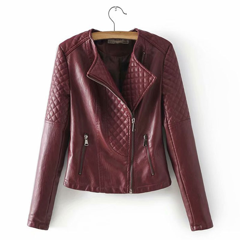 Lusumily Faux   Leather   Jacket Women Moto Biker Zipper Coats Chaqueta Blazer Soft Pu Jackets Jaqueta Couro Rock Cuir Femme Casaco