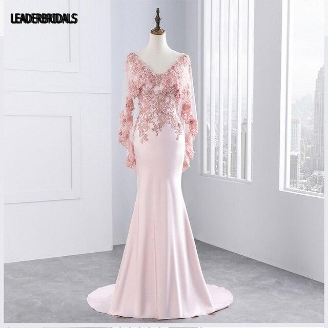2018 Madre de los Vestidos de Novia de Color Rosa de Tul Flores de ...