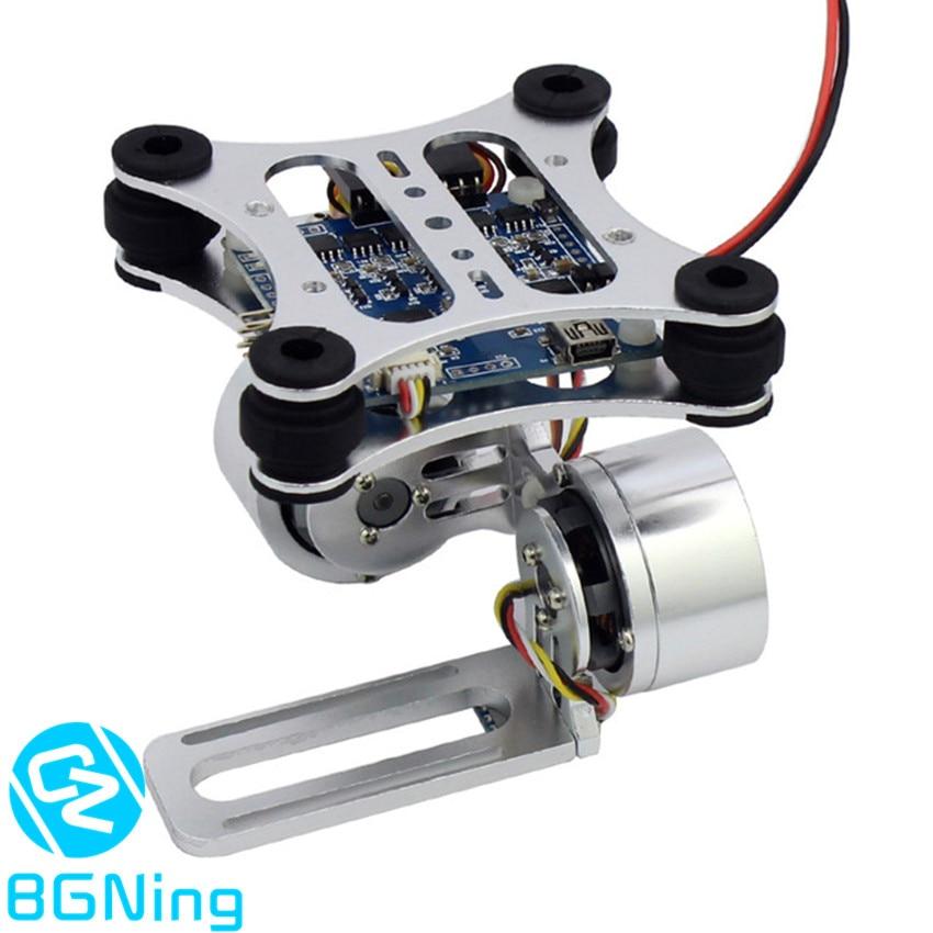 Prise de contrôleur de montage de caméra à cardan sans balai à 2 axes en aluminium pour caméras Gopro 3 3 + DJI Phantom Trex 500/550 Drone sans manuel