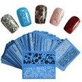 48 unids NUEVO 2016 Belleza Negro/Blanco Nail Art Sticker Sexy de Encaje de Flores para el Encanto de Transferencia de Agua Tatuajes de Manicura herramientas STZV001-048