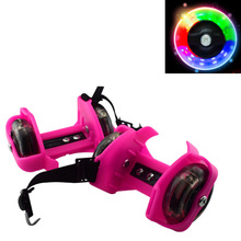 Wheels-Shoes Skating Adjustable Flashing-Roller Gift Outdoor Kid Whirlwind-Pulley Safe