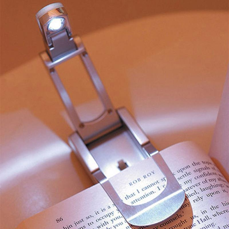 LumiParty Portable Foldable LED Book Lights With A Book Clip Indoor Lighting Flexible Reading Lamp Adjustable Jk30