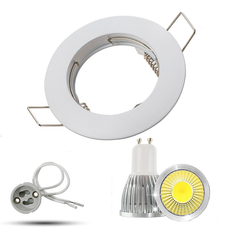 5W 7W 9W LED Downlight GU10 MR16 ceiling mounting frame Dimmable Recessed LED Lamp Spot Light AC85-265V white round spot