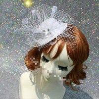 Moda Original Blanco de Las Señoras Rhinestone Tocado de Diamantes Diamantes de Imitación Horquilla