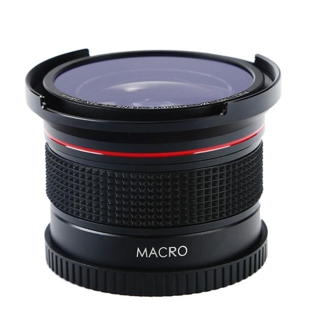 58MM FHD 0.35x Fisheye Macro Wide Angle Camera Lens Multi-Coated Blue Layers Lenses For Nikon d3300 Canon 6d 600d Fujifilm DSLR 6