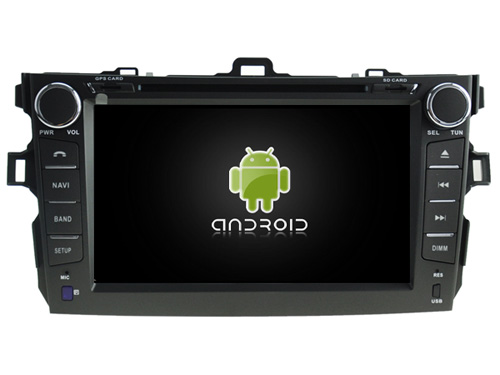 Android 7.1.1 2GB 1024*600 car DVD player for Toyota Corolla 2007-2012 gps navi radio stereo headunits multimedia tape recorder