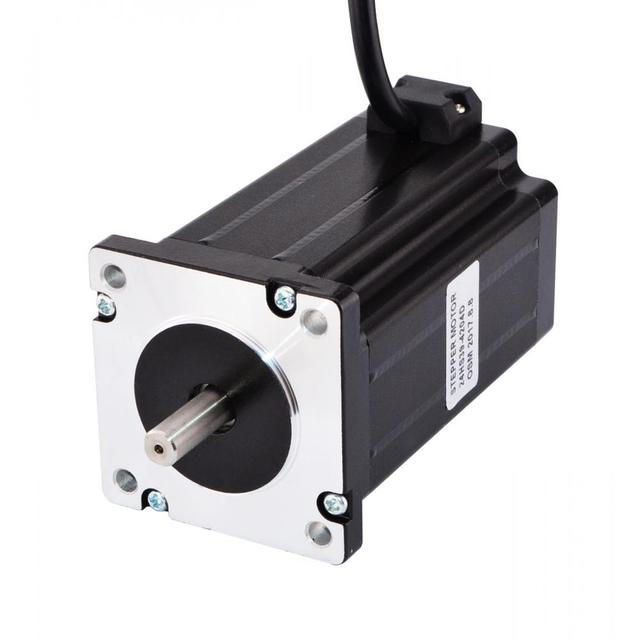 Dual Shaft Nema 24 Stepper Motor 4.2A 4Nm(566 oz.in) 60x60x100mm 4-lead 8mm Shaft for CNC Lathe Router