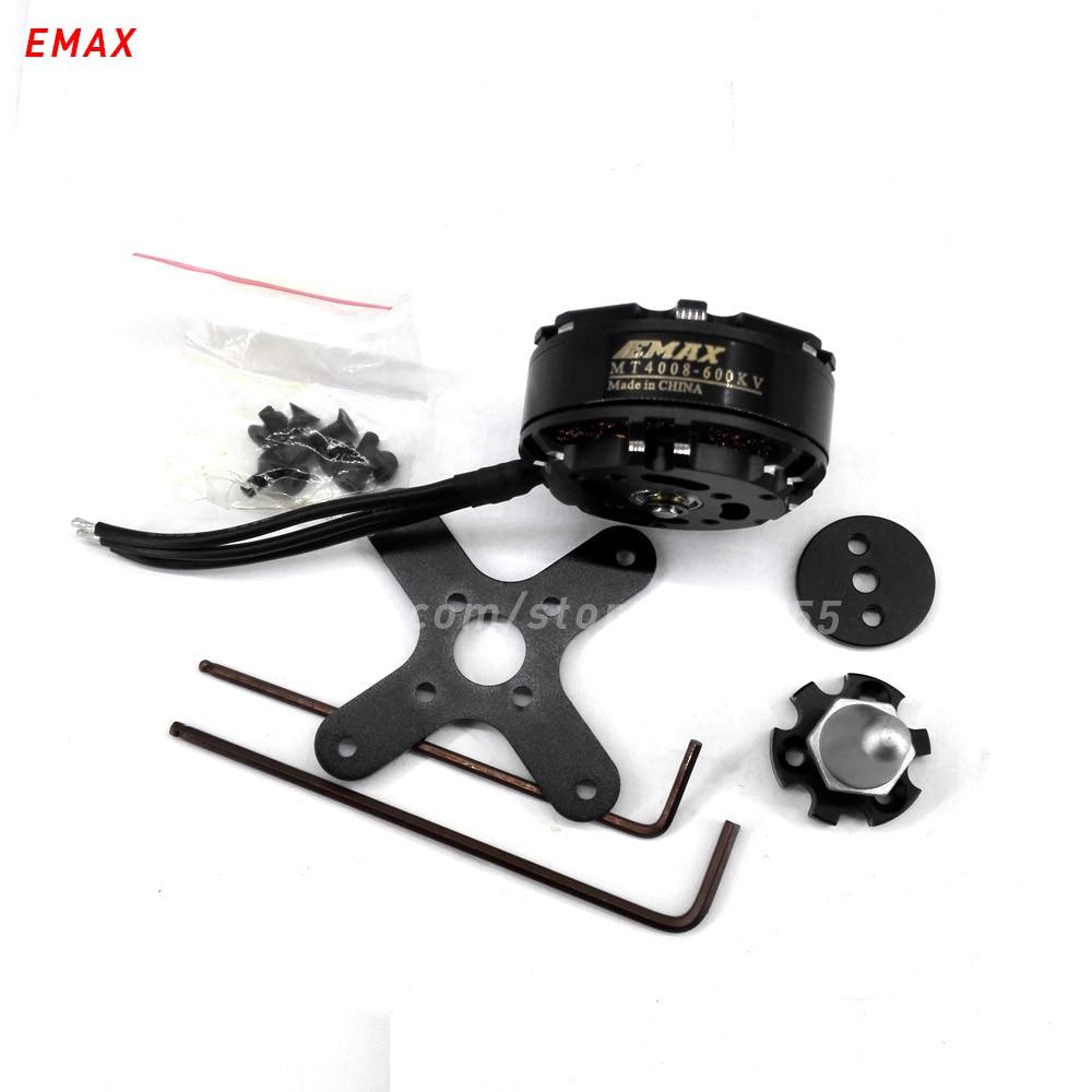 6 pcs (3CW + 3CCW) EMAX MT4008 rc quadcopter brushless moteur 470kv 600kv multi axe hélicoptère 4mm arbre outrunner 46mm pour drone pièces