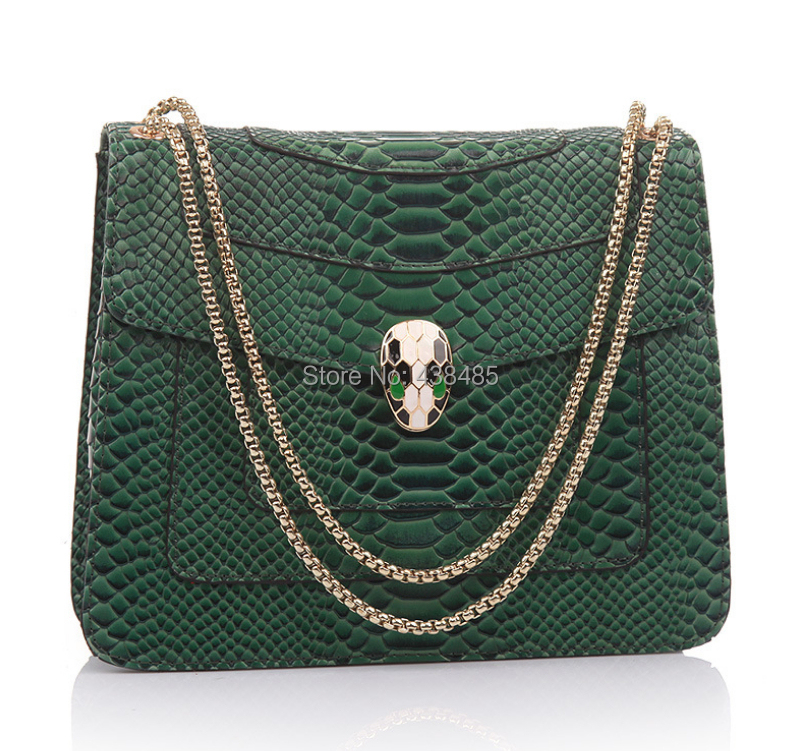 2017 Summer Luxury Chain Bag Snake Head Hasp Designer Famous Brand 100 Cowhide Genuine Leather Women Shoulder In Bags From Luggage