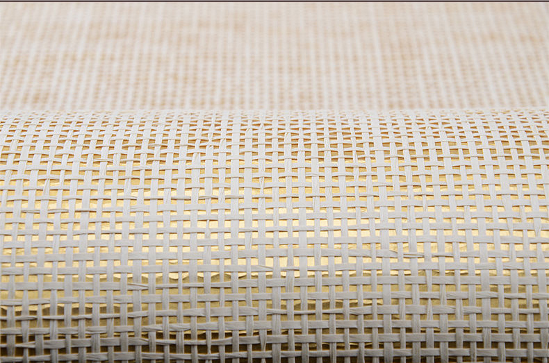 Gold Metallic  Wall Paper Modern Hotel Ceiling Paper-weave Wallpaper For Home Decoration