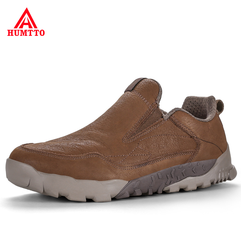 High Quality Male Mountain Soprt Shoes Outdoor Genuine Leather Sports Camping Shoes for Men Profession Non-slip Man Hiking Shoes mulinsen brand new autumn men sports hiking genuine leather shoes sport shoes wear non slip outdoor sneaker 270116