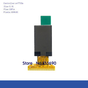 1pcs New 0.91 inch 2.8V SPI interface 160x80 160*80 262K Colors TFT Display Screen ST7735 ST7735S Driver IC 80*160 33PIN