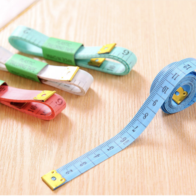 5Pcs Body Measuring Rulers Colored Soft Sewing Ruler Tailor Tape Cute Flexible Clothing Ruler 1.5m Measuring Height Kids