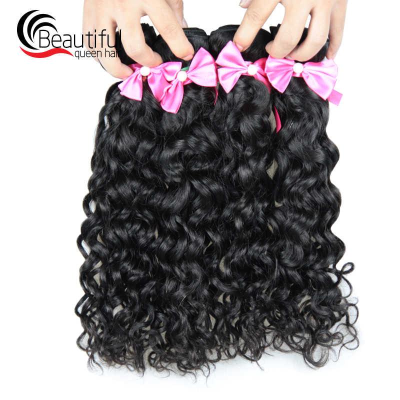 Красивые queen hair перуанская волна волос 4 Связки/Lot 100% пряди человеческих волос для Инструменты для завивки волос натуральный Цвет 10-26 дюймов плетенка в виде волос, не имеющих повреждения кутикулы, чешуйки которой ориентированы в одном направлении