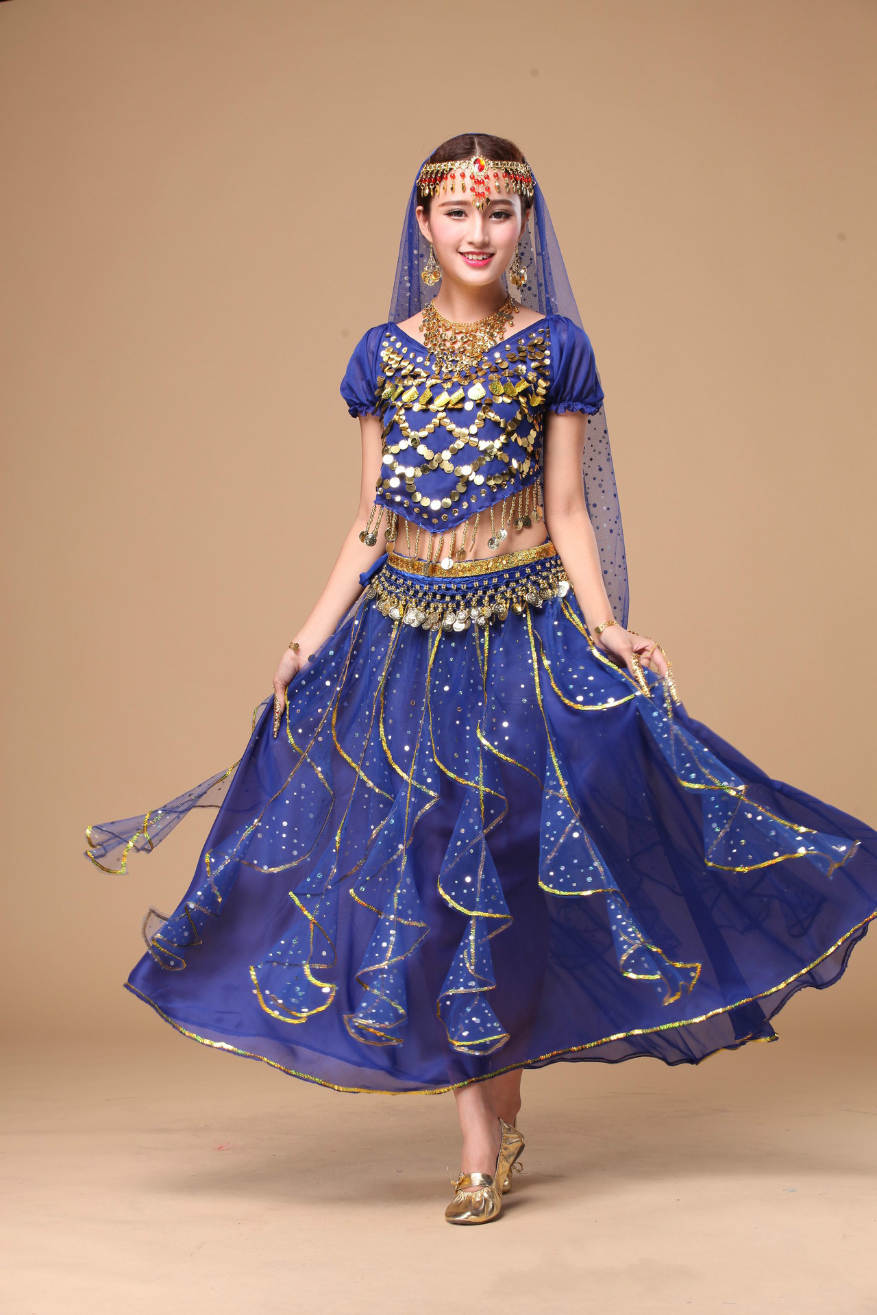 Women Full Set Belly Dance Costume Lady Bellydance Wear ...