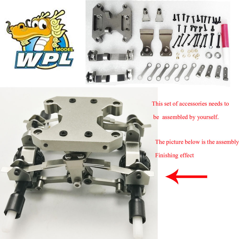 RBR/C WPL B16 B36 6WD Metal Seesaw Accessories DIY Upgrade Modified Model Toy