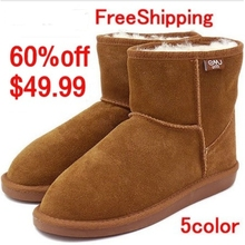 NEW EMU Bronte Mini(W20003) Cow-Suede Genuine with 100% Wool inner Winter Snow Boots 5color Free shipping