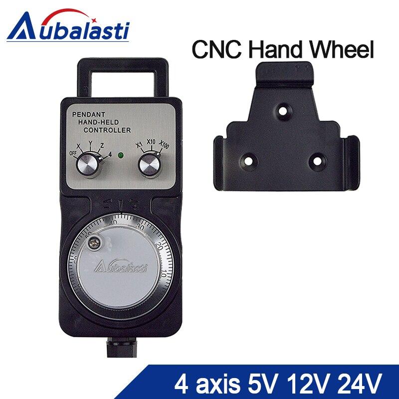Cnc Pulser Handwheel 5v12v24v 4 Axis Pendant Hand Wheel Manual Pulse Generator MPG CNC Machine Manual Pulse Encoder Generator