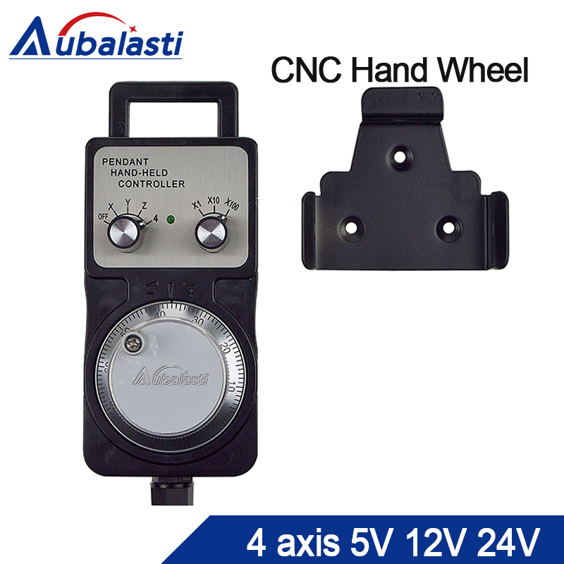 Cnc pulser handwheel 5v12v24v 4 Axis Pendant Hand wheel manual pulse generator MPG CNC machine Manual Pulse Encoder Generator цена 2017