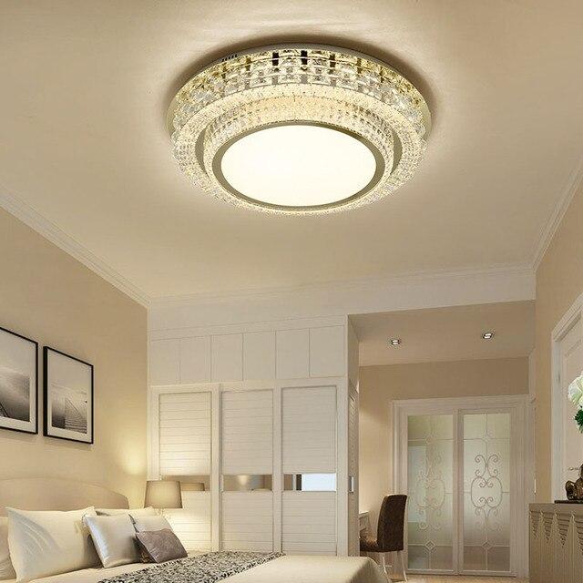Crystal Light Living Room Light Simple Modern Atmosphere Creative Luxury  Round Restaurant Light Master Bedroom LED
