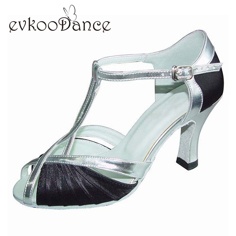 Black Purple Brown Size US 4 12 Zapatos De Baile Heel Height 8cm Professional Dancing Latin