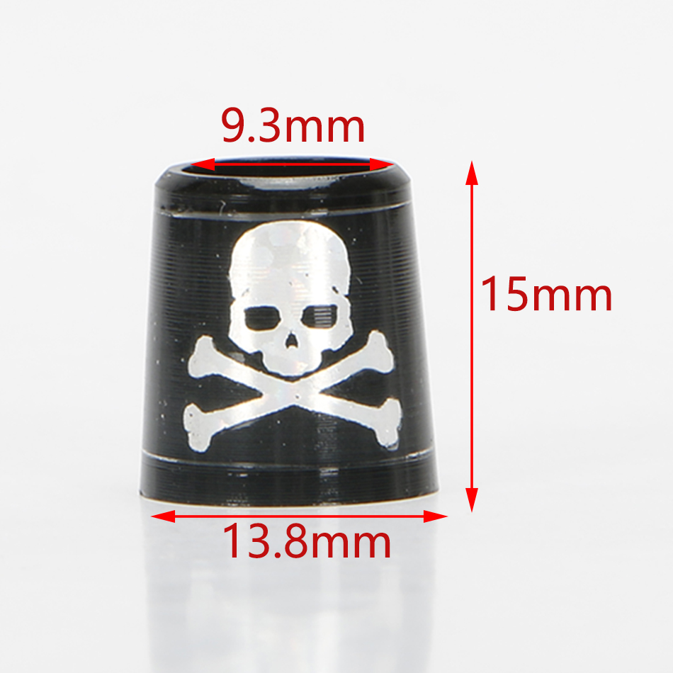 GOLF ferrules for irons and wedges spec : inner * higher* outer size 9.3 *15*13.8 mm black with silver Skull free shipping