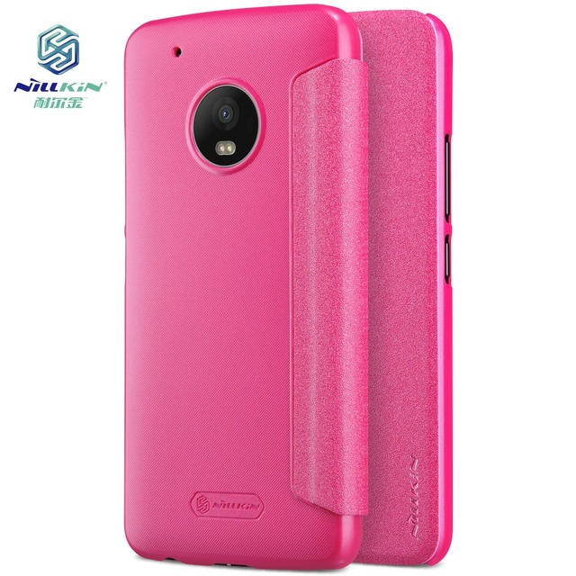 online retailer d92e3 70a01 US $9.89 |Nillkin Flip Case For Motorola Moto G5 Plus Sparkle Smart View  Fashion Leather Cover for Moto G5 Plus Case Coque Capinha Fundas-in Flip ...