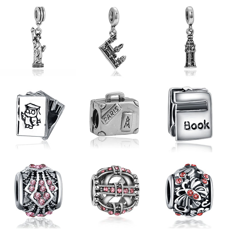 DIY  bracelet tour de cou moto charms princess bijoux silver perfumes mujer originales necklace charm jewelry beads