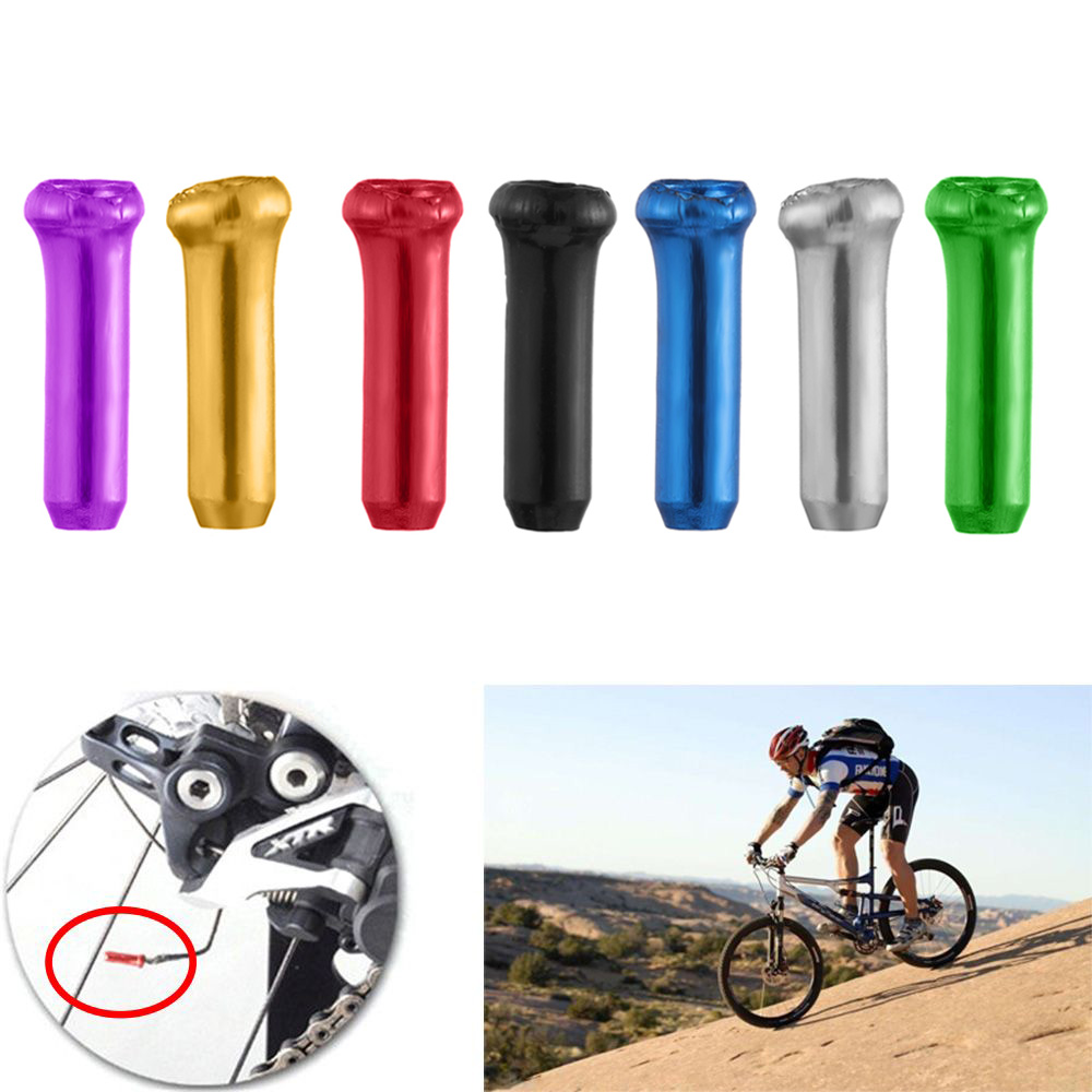 10pcs Road Bike Metal Aluminum  Alloy Shifter Line Cover Bicycle Brake Wire Caps