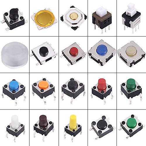 EziUsin 200pcs Assorted Key Push Button Touch Micro Switch Kit Car Remote Control Tablet PC Repair Package Tactile Interruptor
