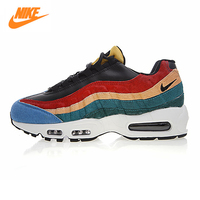 Nike Air Max 95 Men's Running Shoes, Dark Blue & Red & Yellow, Shock Absorption Non slip Wear Resistant Breathable 807443 003