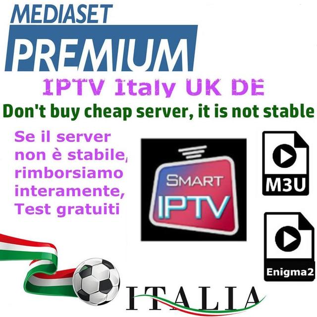 IP ТВ M3u подписка Ip ТВ Италия Великобритания Пособия по немецкому языку французский Албании mediaset premium для Android tv Box Enigma2 Смарт ТВ ПК Linux