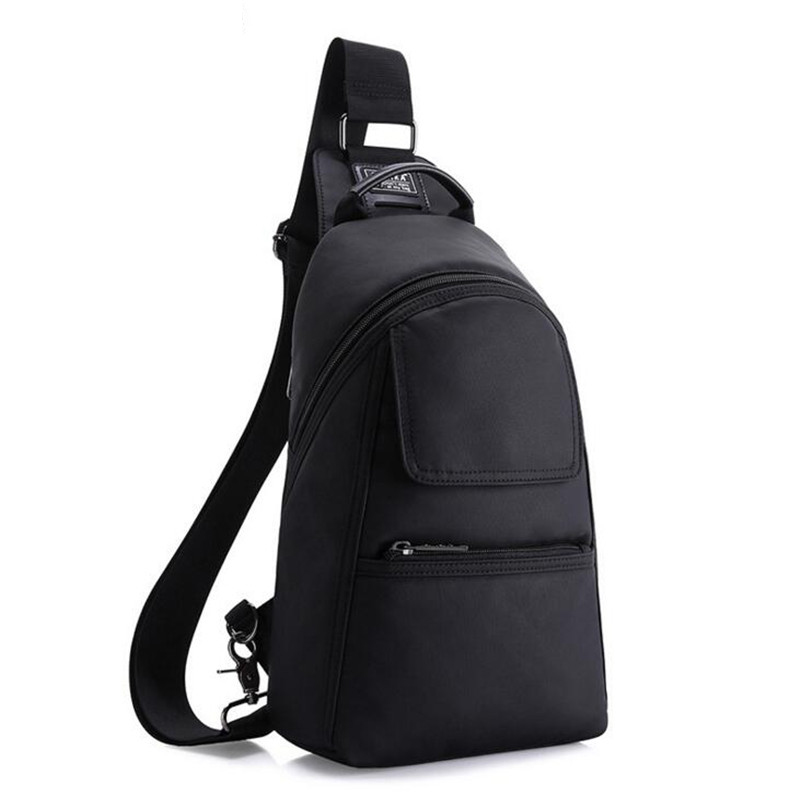 88d281b1f6 KAKA Cool Black Men s Anti Theft Chest Pack Light Waterproof Shoulder Bags  Multi function Male Crossbody Messenger Bags Y126 on Aliexpress.com