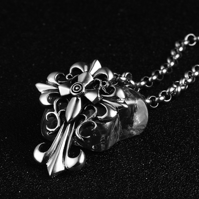 0b8a2b910 the United States personality rock Cross Pendant 925 sterling silver silver  style one generation factory direct sales