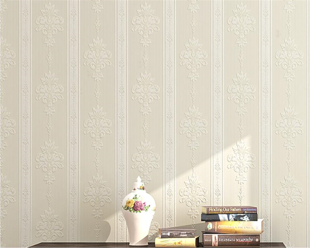Beibehang papel de parede wallpaper European living room background wall paper warm bedroom 3D vertical striped wallpaper roll beibehang warm 3d small leaf pink shallow green 3d wallpaper bedroom living room hotel corridor background 10 m wallpaper roll