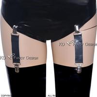 Black Sexy Latex Garters Rubber Garters SEX 0025 15CM Length 4PCS In One Set