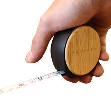Japan wooden box Ruler Tape measure with solid Wooden texture 3.5m maple cherry walnut oak band tape mini measuring tools