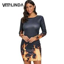 Robe imprimée flamme sexy