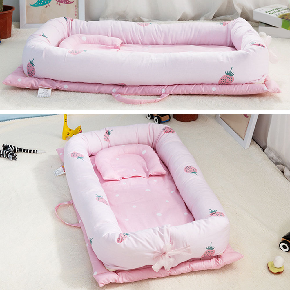 Dismountable Baby Nest Bed Portable Foldable Baby Crib Newborn Travel Bed Sleeper Babynest For Newborn And Toddlers 90*55*15cm