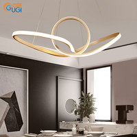 GUGI Led Postmodern Pendant Light For Living Room Deco Dining Room Modern Nordic Pendant Lamps Fixture LED Bulb Bed Diningroom