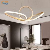 GUGI Led Postmodern Pendant Light For Living Room Deco Dining Room Modern Nordic Pendant Lamps Fixture LED Bulb Bed Diningroom