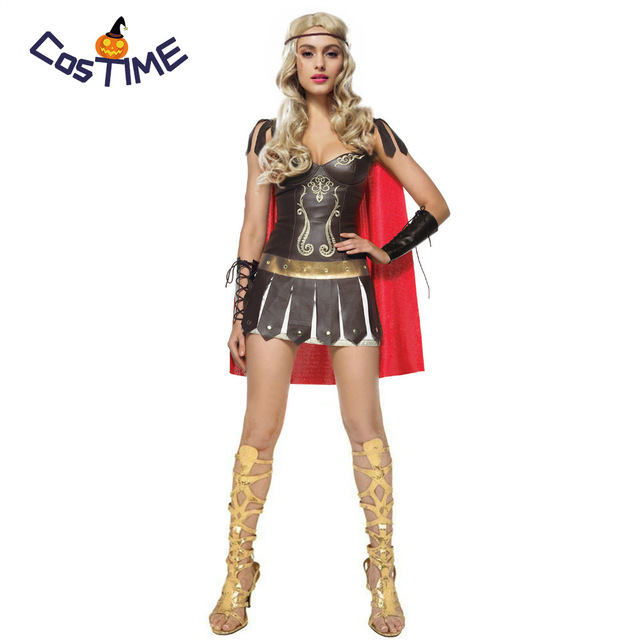 Sexy Roman Warrior Costume Greek Spartan Huntress Gladiator Princess