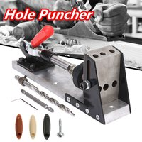 Woodworking Tool Pocket Hole Puncher Jig Drill Guide Master Kit Carpenter Joinery System Woodworking Plug Cut