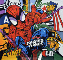 Canvas Art Picture Print Painting Modern Printed Cartoon Spider Man Oil Wall Home Decor