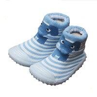 '14 חורת תינוק גרביים של הבנים עם סוליות גומי נעלי ראש בעלי החיים חמוד להחליק אנטי גרבי רצפת תינוק תחתון רך Xp3012