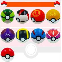 10cm Pokemon Ball With Pikachu Action Figure Pokeball Crystal Pet Charmander Stickers Plastic Game Ball Kid Gift Toy