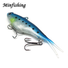 Minfishing 1pcs Flexible Soft Lures Wobbler Bait Jig Head Artificial Bait Silicone Lure 20g VIB Fishing Lures