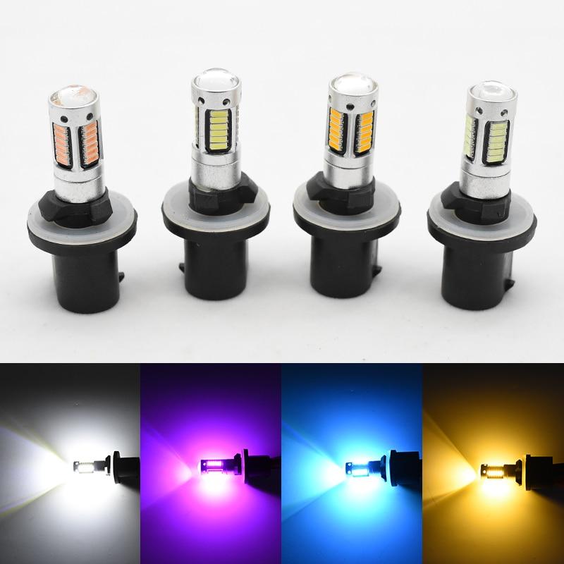 2X H27 880 светодиодный автомобильный фонарь H27W/1 H27W1, противотуманный светильник DRL 12 В 880, Светодиодный дневной ходовой светильник