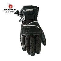 Nuovo di marca scoyco mc15 guanti moto inverno caldo impermeabile antivento sport guanti racing moto equipaggiamento protettivo